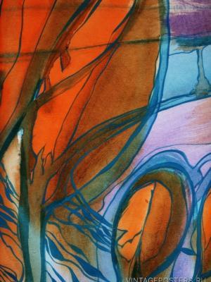 """Купить для интерьера на стену Постер """"Рассвет в кронах деревьев"""" Санкт-Петербург"""
