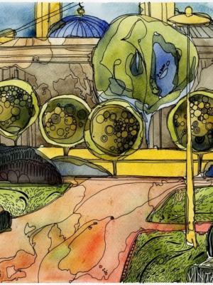 """Купить для интерьера на стену Постер """"Троицкая площадь и мечеть"""" Санкт-Петербург"""