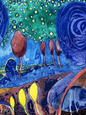 """Купить для интерьера на стену Постер """"Петроградский ботанический сад"""" Санкт-Петербург"""