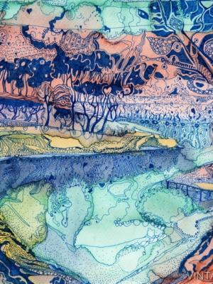 """Купить для интерьера на стену Постер """"Деревья на берегу реки Сок"""" Самара"""