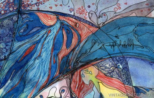 """Купить для интерьера на стену Постер """"Восход Луны. Фрагмент"""" Санкт-Петерубрг"""