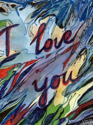 """Купить для интерьера на стену Постер """"I Love You"""" Санкт-Петербург"""