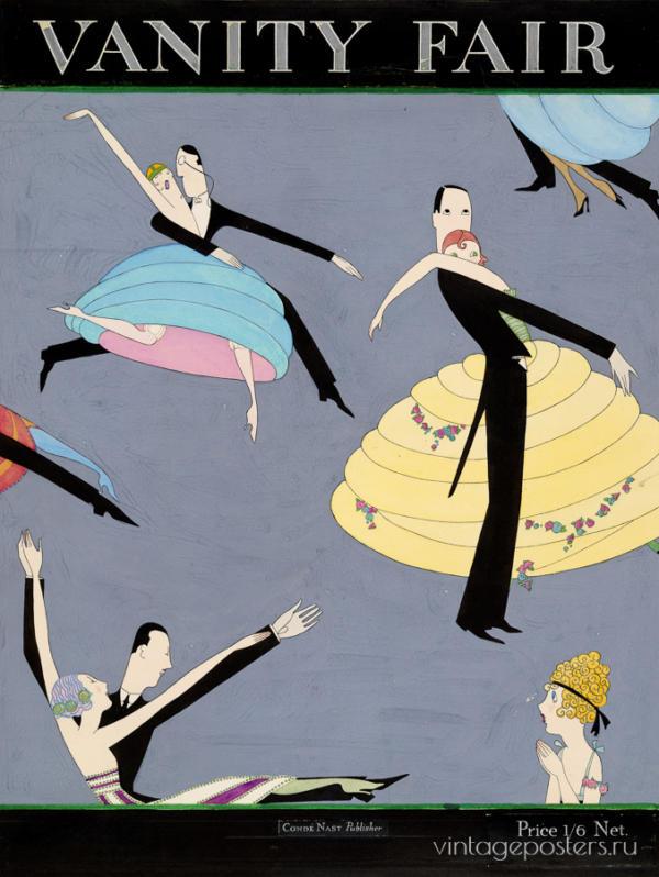 """Купить для интерьера на стену Постер """"Vanity Fair. Танцующие"""" США 1920"""