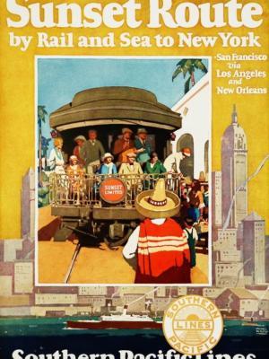 "Купить для интерьера на стену Постер ""New York Southern Pacific Lines"" 1930"