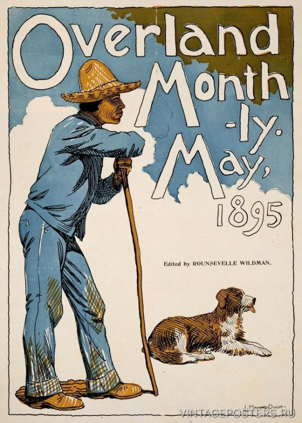 """Купить для интерьера на стену Постер """"Ежемесячник Overland"""" США 1895"""
