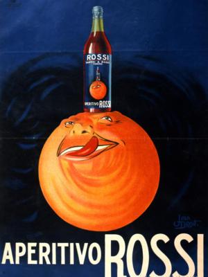 "Купить для интерьера на стену Постер ""Aperitivo Rossi"" Милан 1930"