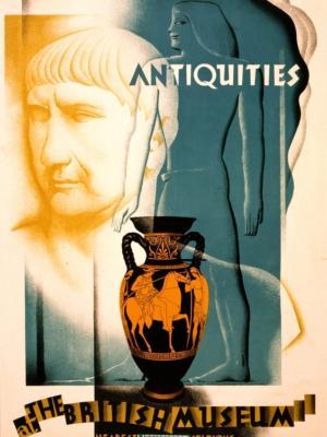 """Купить для интерьера на стену Постер """"Метрополитен. Древности в Британском музее"""" Лондон 1932"""