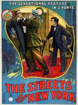 """Купить для интерьера на стену Постер к/ф """"Улицы Нью-Йорка"""" Кливленд 1913"""