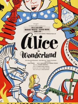 """Купить для интерьера на стену Постер """"Алиса в стране чудес. Спектакль"""" Нью-Йорк 1947"""