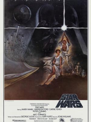 """Купить для интерьера на стену Постер к/ф """"Звездные войны. Эпизод IV"""" США 1977"""