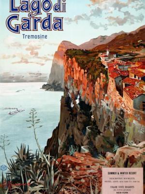 """Купить для интерьера на стену Постер """"Озеро Гарда"""" Милан 1920"""
