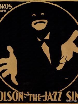 """Купить для интерьера на стену Постер """"Эл Джолнсон в к/ф Джазовый певец"""" 1927"""