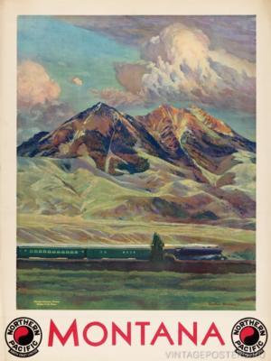 """Купить для интерьера на стену Постер """"Монтана. Горы Абсарока"""" США 1920"""