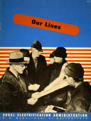 """Купить для интерьера на стену Постер """"Электрификация. Наши линии"""" США 1930"""