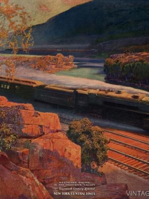 """Купить для интерьера на стену Постер """"Долина Мохок. New-York Central Lines"""" 1920"""