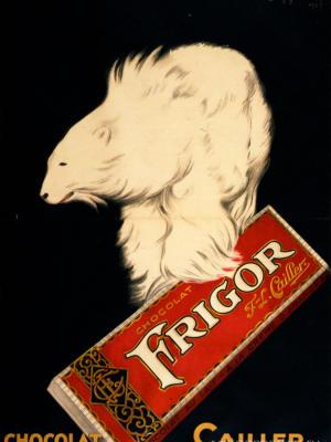 """Купить для интерьера на стену Постер """"Шоколад Frigor"""" Париж 1929"""