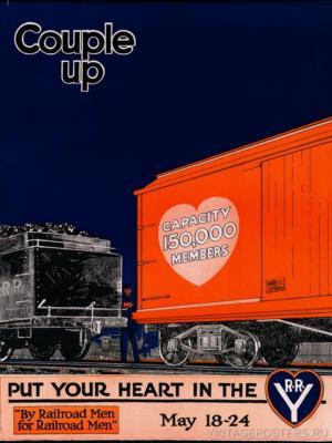 """Купить для интерьера на стену Постер """"От железнодорожников железнодорожникам"""" США 1910"""