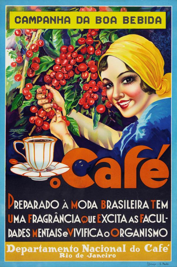 """Купить для интерьера на стену Постер """"Кофе"""" Рио-де-Жанейро 1930"""