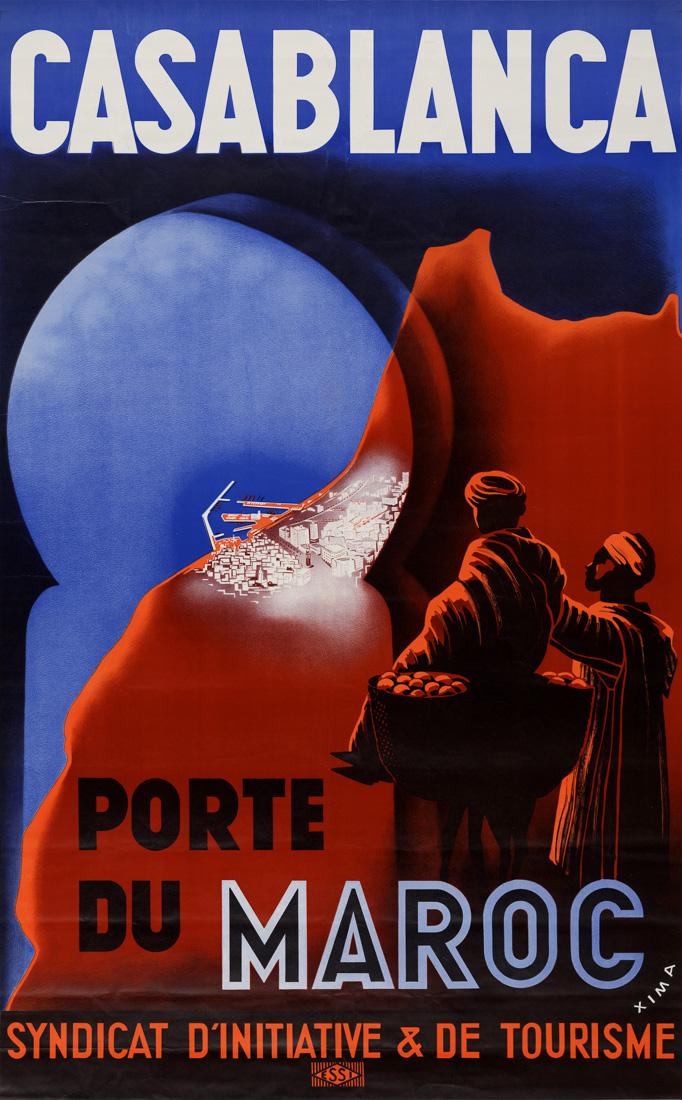 """Купить для интерьера на стену Постер """"Касабланка. Двери Марокко"""" 1939"""