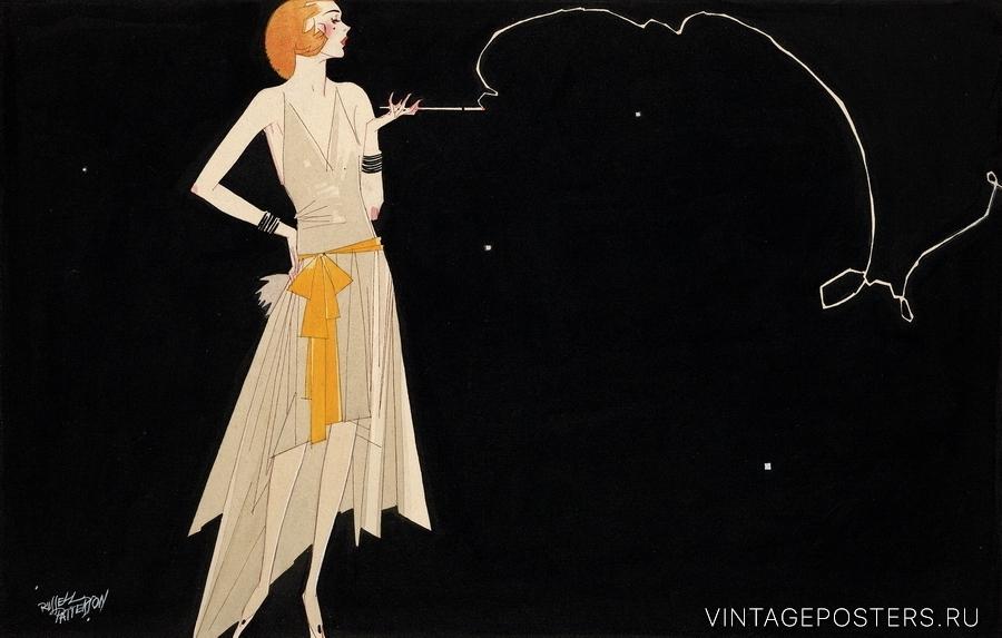 """Купить для интерьера на стену Постер """"Дыма без огня не бывает"""" США 1920"""