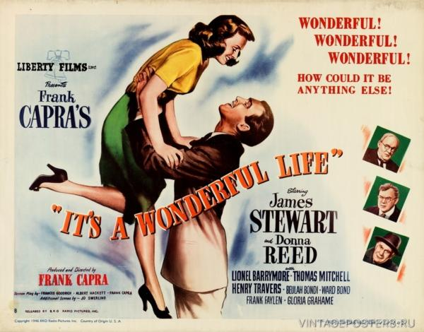 """Купить для интерьера на стену Постер к/ф """"Эта прекрасная жизнь"""" 1946"""
