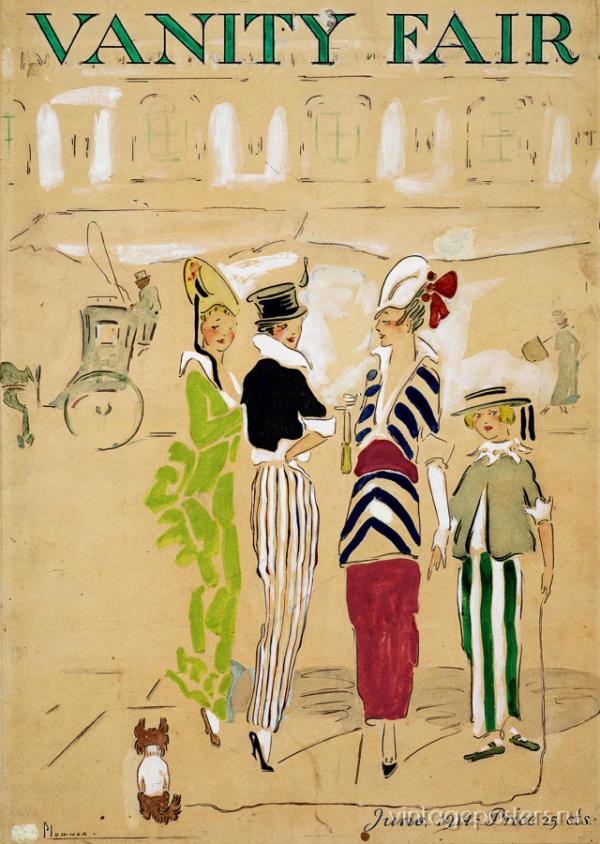 """Купить для интерьера на стену Постер """"Vanity Fair. На авеню"""" США 1914"""
