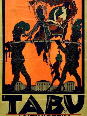 """Купить для интерьера на стену Постер """"Антиникотиновые сигареты Tabu"""" Вена 1919"""