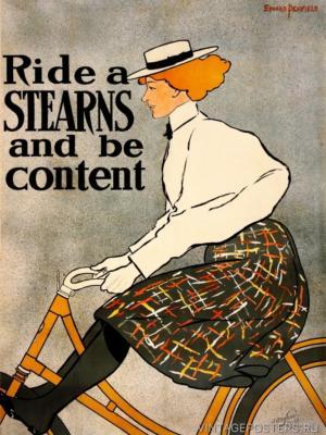 """Купить для интерьера на стену Постер """"Катайся на Stearns и наслаждайся"""" США 1896"""
