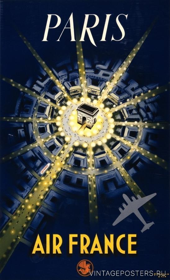 """Купить для интерьера на стену Постер """"Париж"""" 1947"""