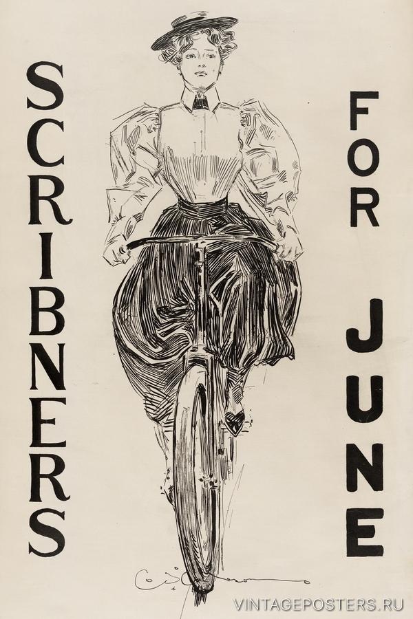 """Купить для интерьера на стену Постер """"Журнал Scribner's. Июнь"""" США 1895"""