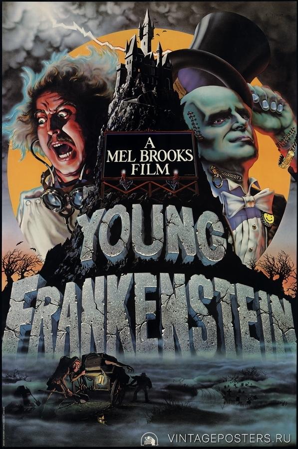 """Купить для интерьера на стену Постер к/ф """"Молодой Франкенштейн"""" США 1975"""