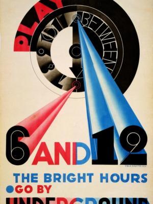 """Купить для интерьера на стену Постер """"Отдыхай с 6 до 12"""" Лондон 1930"""