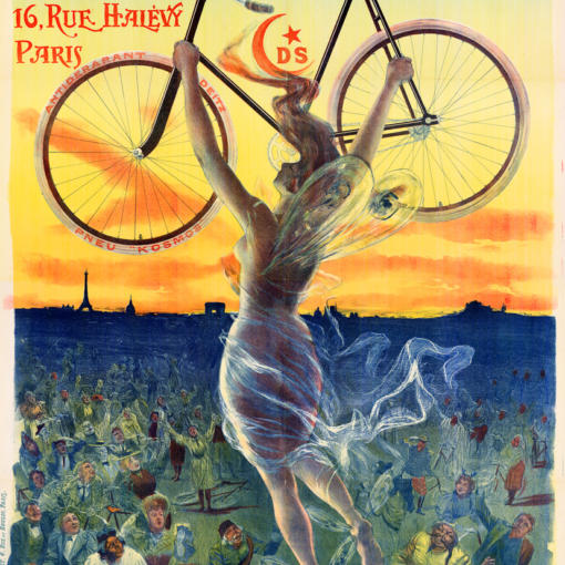 """Купить для интерьера на стену Постер """"Велосипеды Déesse"""" Париж 1898"""