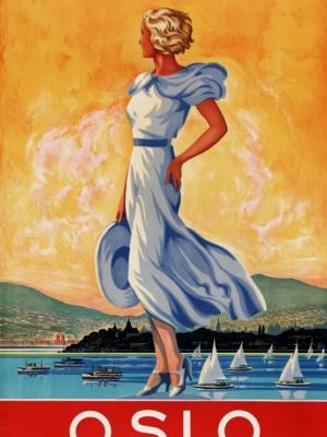 """Купить для интерьера на стену Постер """"Осло. Столица Норвегии"""" Норвегия 1930"""