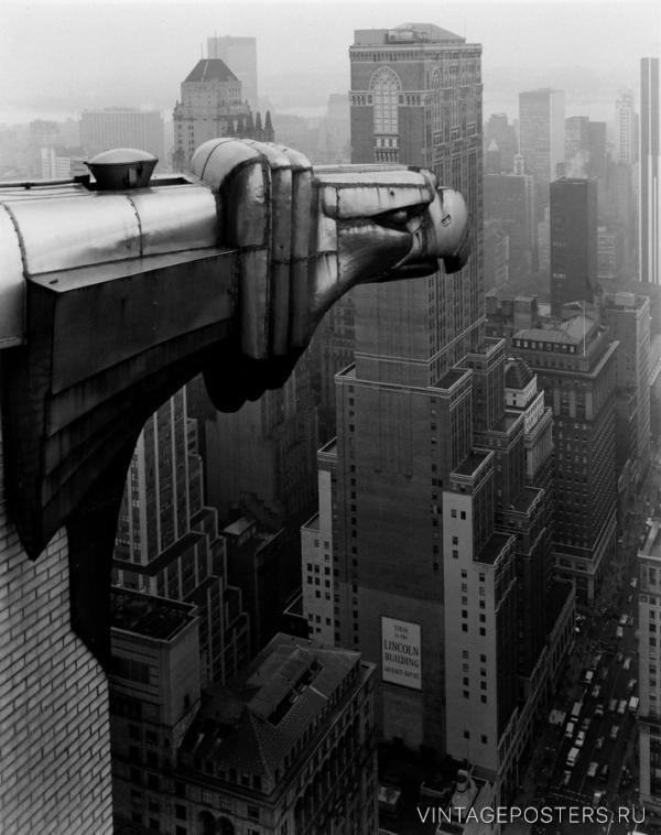 """Купить для интерьера на стену Постер """"Небоскреб Chrysler"""" Нью-Йорк 1978"""