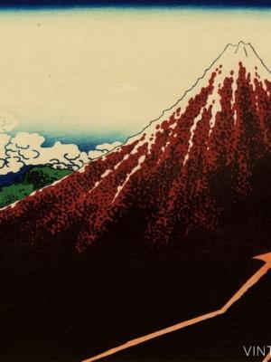 """Купить для интерьера на стену Постер """"Дождь у подножия горы"""" 1830"""
