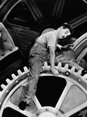 """Купить для интерьера на стену Постер """"Чарли Чаплин в к/ф Новые Времена"""" 1936"""
