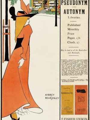 """Купить для интерьера на стену Постер """"Книжный магазин"""" Англия 1894"""