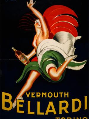 """Купить для интерьера на стену Постер """"Вермут Bellardi Torino"""" Париж 1927"""