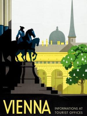 """Купить для интерьера на стену Постер """"Вена"""" Австрия 1930"""
