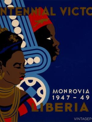 """Купить для интерьера на стену Постер """"Выставка победы. Монровия"""" Либерия 1949"""