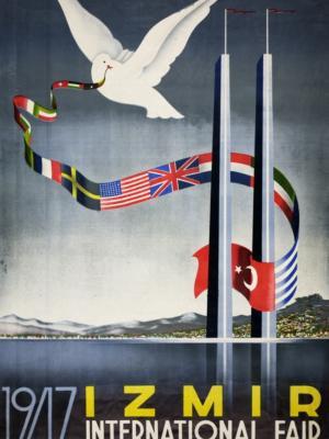 """Купить для интерьера на стену Постер """"Международная ярмарка в Измире"""" Турция 1947"""