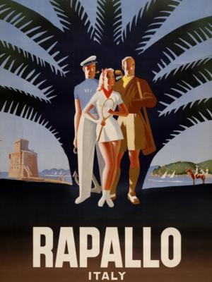 """Купить для интерьера на стену Постер """"Рапалло"""" Италия 1947"""