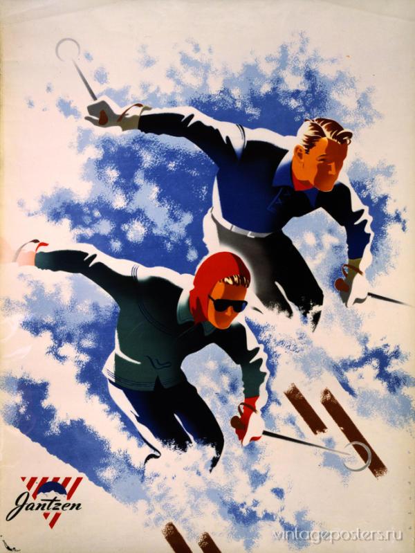 """Купить для интерьера на стену Постер """"Одежда Jantzen"""" США 1947"""