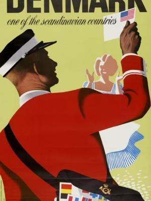 """Купить для интерьера на стену Постер """"Дания. Страна Скандинавии"""" Копенгаген 1948"""