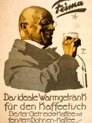 """Купить для интерьера на стену Постер """"Хорошо, что Андре Хофер внутри"""" Мюнхен 1936"""