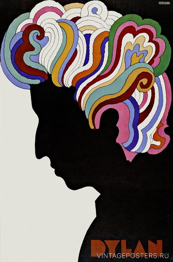"""Купить для интерьера на стену Постер """"Боб Дилан"""""""