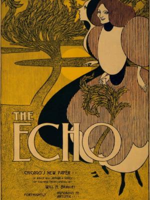 """Купить для интерьера на стену Постер """"The echo. Новый художественно-юмористический журнал"""" США 1895"""