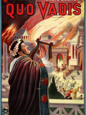 """Купить для интерьера на стену Постер к/ф """"Quo Vadis"""" Чикаго 1913"""