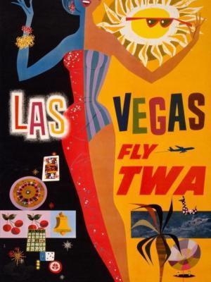 """Купить для интерьера на стену Постер """"Лас-Вегас"""" 1960"""